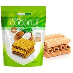 No artificial flavor or color. Suitable for vegetarian. Coconut Milk, Crisp, Roast, Tropical, Vegetarian, Snacks, Crackers, Pastries, Breakfast
