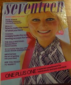Seventeen magazine cover, July 1972 - Google Search