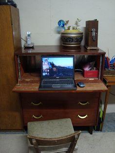 secretary desk I made out of an old dresser