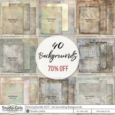Retiring Bundle 2017 - Art Journaling Backgrounds