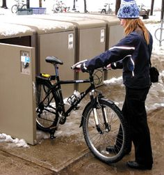 Bike lockers? YES please!! #healthy #fitness