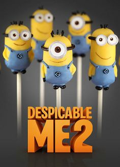 Despicable Me 2 Cake Pops by @Bakerella