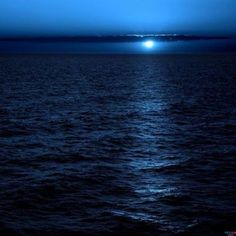 Midnight Blue Water