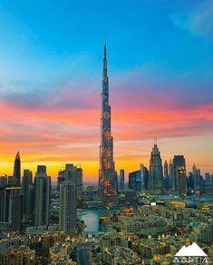 The with the beautiful sky on its background. Happy to have seen… Voyage Dubai, Living In Dubai, Dubai Travel, Futuristic Architecture, Dubai Uae, Beautiful Sky, United Arab Emirates, Burj Khalifa, Travel Couple
