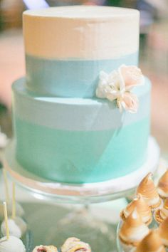 color blocked cake