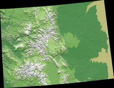 コロラド州の立体図-コロラド州 - Wikipedia
