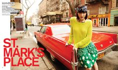 Andressa Fontana hits the streets of Manhattan's St. Marks Place for the latest issue of Nylon Mexico, lensed by Sarra Fleur Abou-El-Haj.