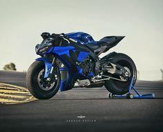 Image may contain: motorcycle Yamaha R1, Yamaha Cafe Racer, Yamaha Motorcycles, R1 Bike, Moto Bike, Custom Sport Bikes, Honda, Concept Motorcycles, Futuristic Motorcycle