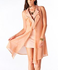 Look what I found on #zulily! miilla  Blush Peach Layered Vest by miilla  #zulilyfinds