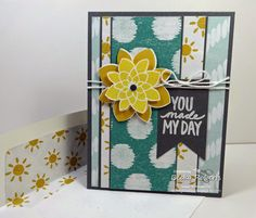 Inking Idaho: Demonstrator Theater Video; Cardstock: Basic Gray, Sweet Dreams Designer Series Paper Stamp Set:  Best Day Ever (FREE Sale-a-bration set), Crazy About You Accessories:  Banner Framelits, Flower Medallion Punch, Whisper White Baker's Twine
