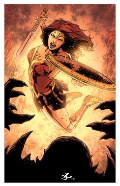 Wonder Woman in Action - Leno Carvalho & Rod Fernandes Colors