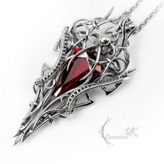 VECNISS - silver and red quartz by LUNARIEEN.deviantart.com on @deviantART
