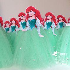 Tubete vestido Tule Princesa Ariel    *** Personalizamos com qualquer Princesa***