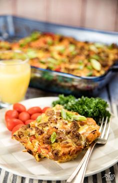 Breakfast Casserole With Sausages #Paleo