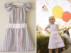 Repurposed Men's Shirt Child's Dress