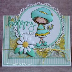 The papers are either Authentique or My Minds Eye, MFT crochet border for my circle, My daisy is also MFT, Simon Says Stamp Happy die and sentiments stamp set