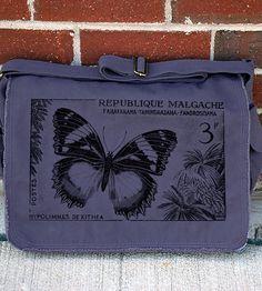 181441d06f16 Butterfly Postal Stamp Messenger Bag. Bag MakingEvening BagsMessenger ...