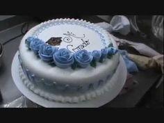 "Torta para Grado ""Rosas azules"" - YouTube"