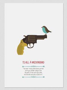Illustration. To kill a mockingbird. Print. by Tutticonfetti