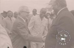 SAHA - South African History Archive - Joshua Nkomo meeting Erich Honecker during his visit to the refugee camps in Zambia