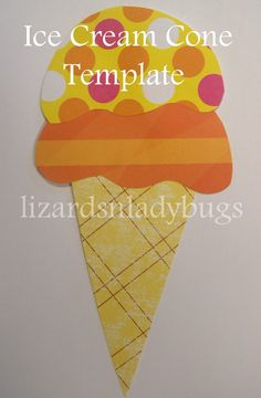 Ice Cream Cone Applique Pattern Template FREE SHIPPING. $1.75, via Etsy.