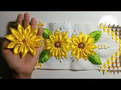 Free Online Videos Best Movies TV shows - Faceclips Hand Embroidery Patterns Flowers, Hand Embroidery Designs, Ribbon Embroidery, Christmas Crafts To Make And Sell, Diy And Crafts, How To Make Sunflower, Ribbon Flower Tutorial, Mini Quilts, Crochet Doilies