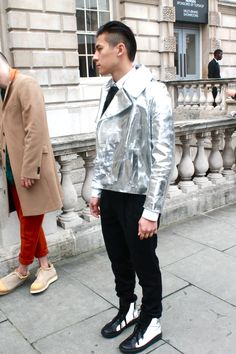 Bring your outfit to life with a mirror-like jacket #shiny #coolcoats