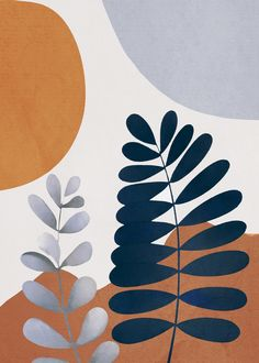 Abstract plant 4 Art Print by DoubleD - X-Small Pop Art Wallpaper, Minimalist Art, Art Projects, Illustration Art, Canvas Art, Wall Art, Decoration, Modern Art Prints, Artwork