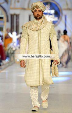Dazzling Heavy Embellished Sherwani For groom  Color: Eggplant Fabric: Self Jamawar Dazzling she
