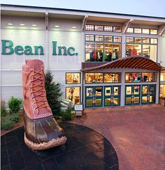 LL Bean Flagship Store // Freeport, Maine  I need to see this boot, Chelsea?