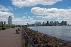 A beautiful pier in Jersey City at Liberty Park, New Jersey