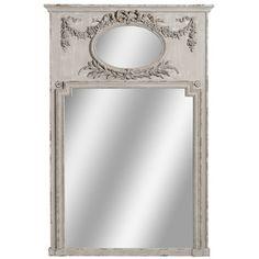 Prostokątne lustro ozdobione pięknym ornamentem w którym znajduje się malutka tafla lustra. Całość prezentuje się niezwykle elegancko.  Więcej na : www.lawendowykredens.pl