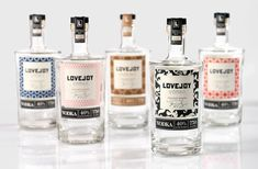 Lovejoy Vodka: Have you ever seen a liquor bottle like this before? If so, you'd remember it for sure.
