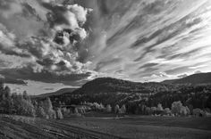 Black 'N' White Landscape by Lidia, Leszek Derda on Black And White Landscape, Black N White, Explore, Mountains, Nature, Travel, Naturaleza, Viajes, Black White