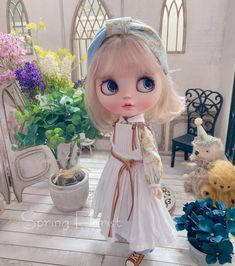 Girls Dresses, Flower Girl Dresses, Blythe Dolls, Disney Princess, Disney Characters, Wedding Dresses, Instagram, Fashion, Flowers