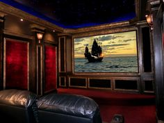 what an awesome way to watch movies in your home