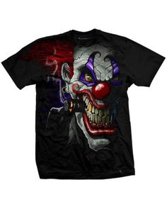 #Darkside clothing #clown mens t-shirt/tee/top #killer/horror/circus/joker/evil,  View more on the LINK: http://www.zeppy.io/product/gb/2/380511501256/