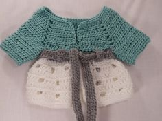 Seafoam girls crochet cardigan baby and toddler by FelixFunhouse,