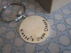 World's Best Daddy Hand Stamped Keyring by girlinair on Etsy, $10.00