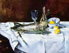 Edouard Manet - still life with salmon