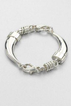 Sterling Silver Tusk Bracelet