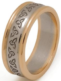 The Wedding Band Shop: Trinity Knot Wedding Band with Rims
