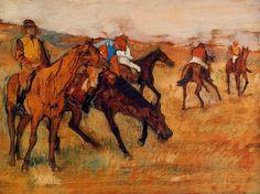 Avant la course (E. Degas, ca. 1882-1884)