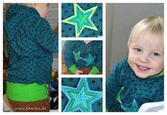 Sterne Appli Freebie · applikation  free star embroidery
