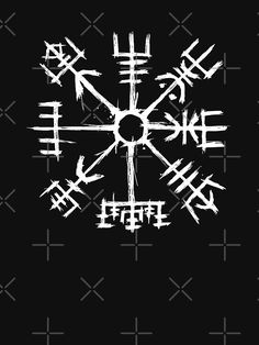 Vegvisir the Symbol of Guidance and Protection also known as the runic compass or the Viking compass. Its an icelandic stave and ancient symbol. Viking Compass Tattoo, Viking Tattoo Symbol, Norse Tattoo, Viking Tattoos, Runic Compass, Nordic Symbols, Magic Symbols, Viking Symbols, Norse Runes