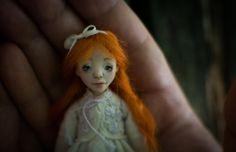 Mini Ginger by RomanticWonders on Etsy Ooak Dolls, Art Dolls, Handicraft, My Etsy Shop, Romantic, Christmas Ornaments, Trending Outfits, Holiday Decor, Mini