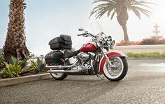 H-D1™ Inspiration Gallery | Motorcycle Photos | Harley-Davidson USA Luggaged out with saddle bags and tourpack. White walls. Red and white.