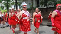 New Orleans Red Dress Run 2013. Thank goodness it is for charity.
