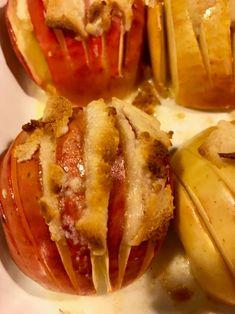 Recette de pommes Hasselback au massepain - Cooking out Dessert Recipes, Desserts, Baked Potato, Potatoes, Baking, Ethnic Recipes, Food, Nordic Kitchen, Marzipan