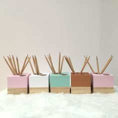 With a contemporary and stylish design, this pencil holder will add a modern…